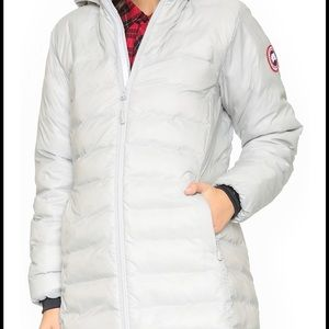 Like new Canada goose Camp hoody jacket5061L white